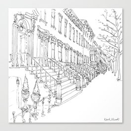Brooklyn Brownstones Canvas Print
