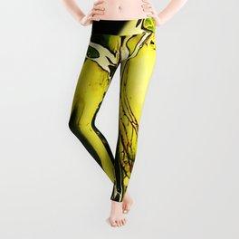 Tint Blot - Cracked Glass Yellow Leggings