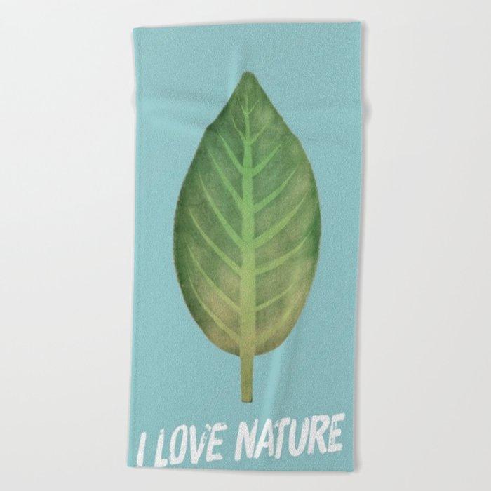 leaf-151 Beach Towel