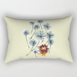 Lion on dandelion Rectangular Pillow