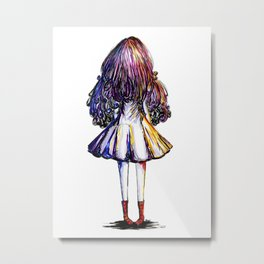 Faceless Girl and Red Doc Metal Print