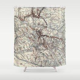 Vintage Map of Arizona (1911)  Shower Curtain