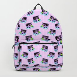 Alien box / Pink Grid Backpack