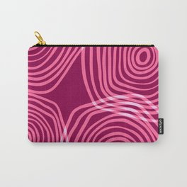 Japanese Seigaiha Magenta Carry-All Pouch