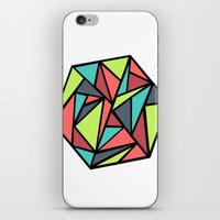 hexagon iPhone & iPod Skins featuring Hexagon by chrfahnestock