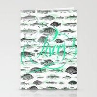 pisces Stationery Cards featuring Pisces by Srg44