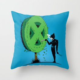 Logan Scissorhands Throw Pillow