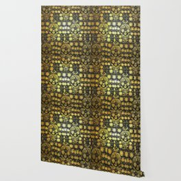 Gold Tiled Sugar Skulls Wallpaper