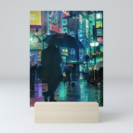 Rainy Tokyo At Night Mini Art Print