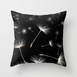 Celestial Dandelions Throw Pillow