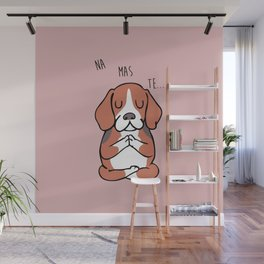 NAMASTE Beagle Wall Mural
