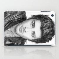 zayn malik iPad Cases featuring Zayn Malik Drawing by Emilia Apreda