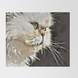 White Persian Cat Throw Blanket