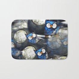 Owl Painting Pattern Bath Mat