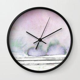 laurel canyon abstract watercolor Wall Clock