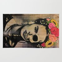 frida Area & Throw Rugs featuring Frida by Cristina Bee