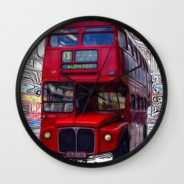 The London Bus Wall Clock