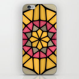 Gold medal Voronoi iPhone Skin