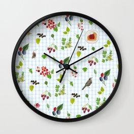 Merry Berries Wall Clock