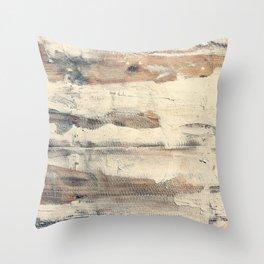 Wood shipboard repairing Throw Pillow