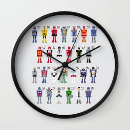 Transformers Alphabet Wall Clock