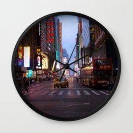 Purple Streets Wall Clock
