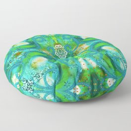 Swirly Roads Floor Pillow