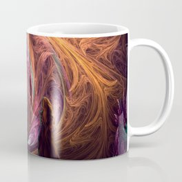 Towards The Light - Alice in Wonderland - White Rabbit - Fractal Coffee Mug
