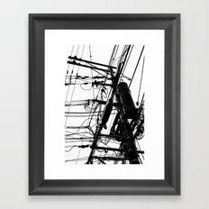 Telephone Poll 1 Framed Art Print