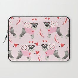 Schnauzer love cupid dog costume valentines day pet gifts schnauzers Laptop Sleeve