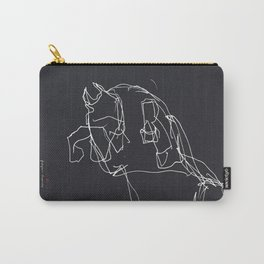Horse (Prancing in Black) Carry-All Pouch