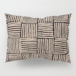Crosshatch Black  Pillow Sham