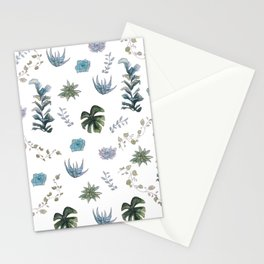 Indoor plant pattern Stationery Cards