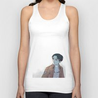snk Tank Tops featuring Levi by sushishishi