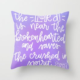 The Brokenhearted Throw Pillow