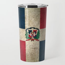 Old and Worn Distressed Vintage Flag of Dominican Republic Travel Mug