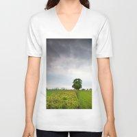 irish V-neck T-shirts featuring Irish landscape by Aaron MacDougall