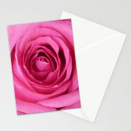 Bright Pink Rose Stationery Cards