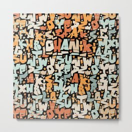 graffiti pattern - colorful letter Design   Metal Print