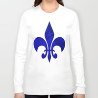 renaissance Long Sleeve T-shirts featuring Renaissance Blue by Charma Rose