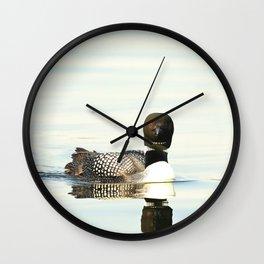 Loon reflection Wall Clock