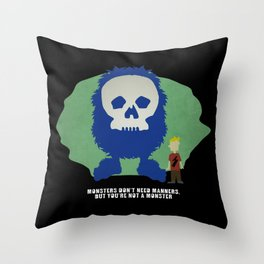 Monsters Don't Need Manners Throw Pillow