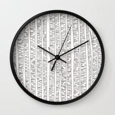 Lost In Stripes Wall Clock