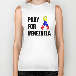 Pray for Venezuela  Biker Tank
