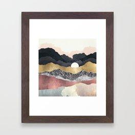 Frost Reflection Framed Art Print