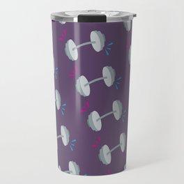 Barbell Pop Purple Travel Mug