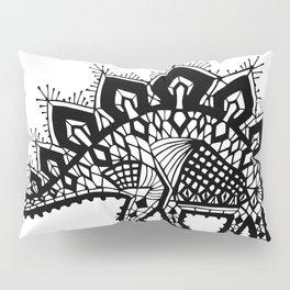 Stegosaurus Lace - Black Pillow Sham