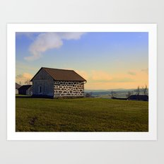 Traditional storage in autumn scenery | architectural photography Art Print