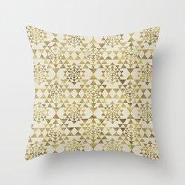 Sri Yantra  / Sri Chakra Pattern - Gold pastel Throw Pillow