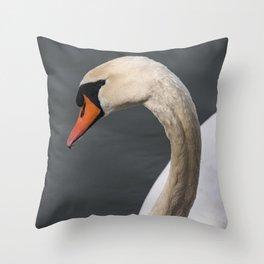 Mute Swan in Winter Throw Pillow